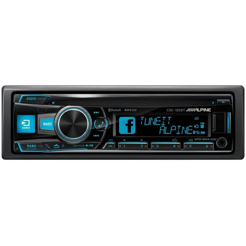 ALPINE CD/TUNER BLUETOOTH 3 LINE OUT 185BT